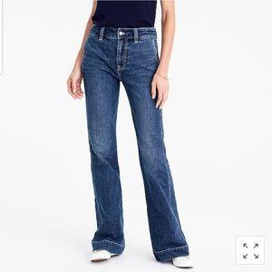 J Crew Wide Leg Trouser Jean in Tahoe Was Sz 27 29